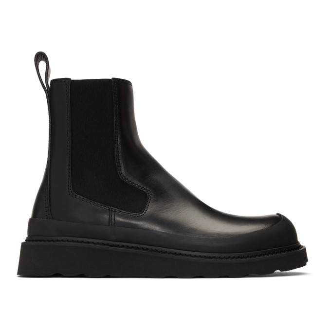 Photo: Bottega Veneta Black Storm Chelsea Boots