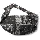 KAPITAL - Bandana-Print Cotton Belt Bag - Black
