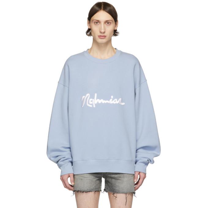 Photo: Nahmias Blue Scripted Sweatshirt