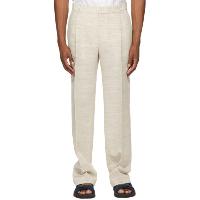 Photo: Botter Off-White Classic Pleat Trousers