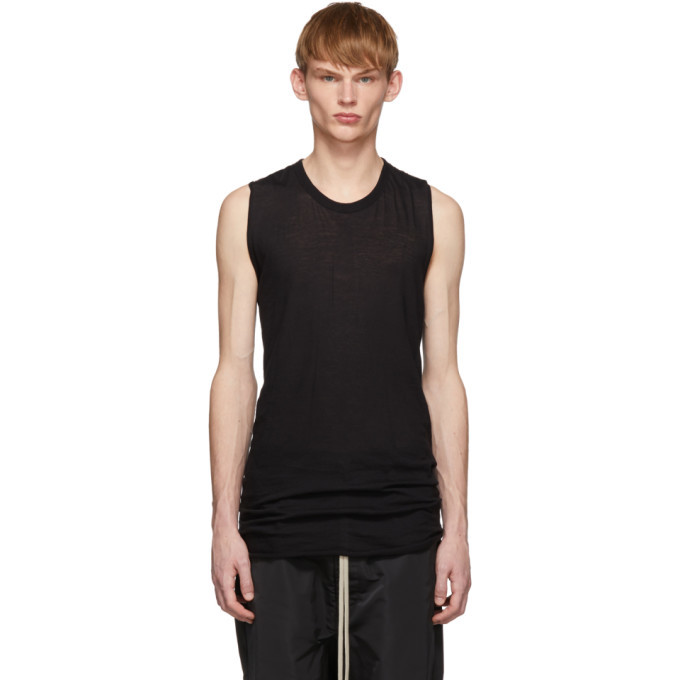 Photo: Rick Owens Black Basic Tank Top