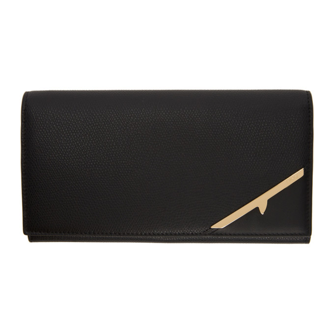 Photo: Fendi Black Corner Bugs Continental Wallet