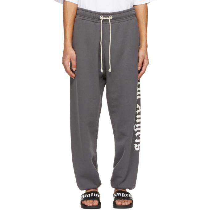 Photo: Palm Angels Grey Side Logo Lounge Pants