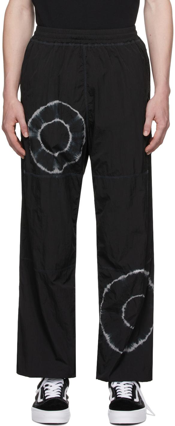 Photo: Aries Black Tie-Dye Windcheater Lounge Pants