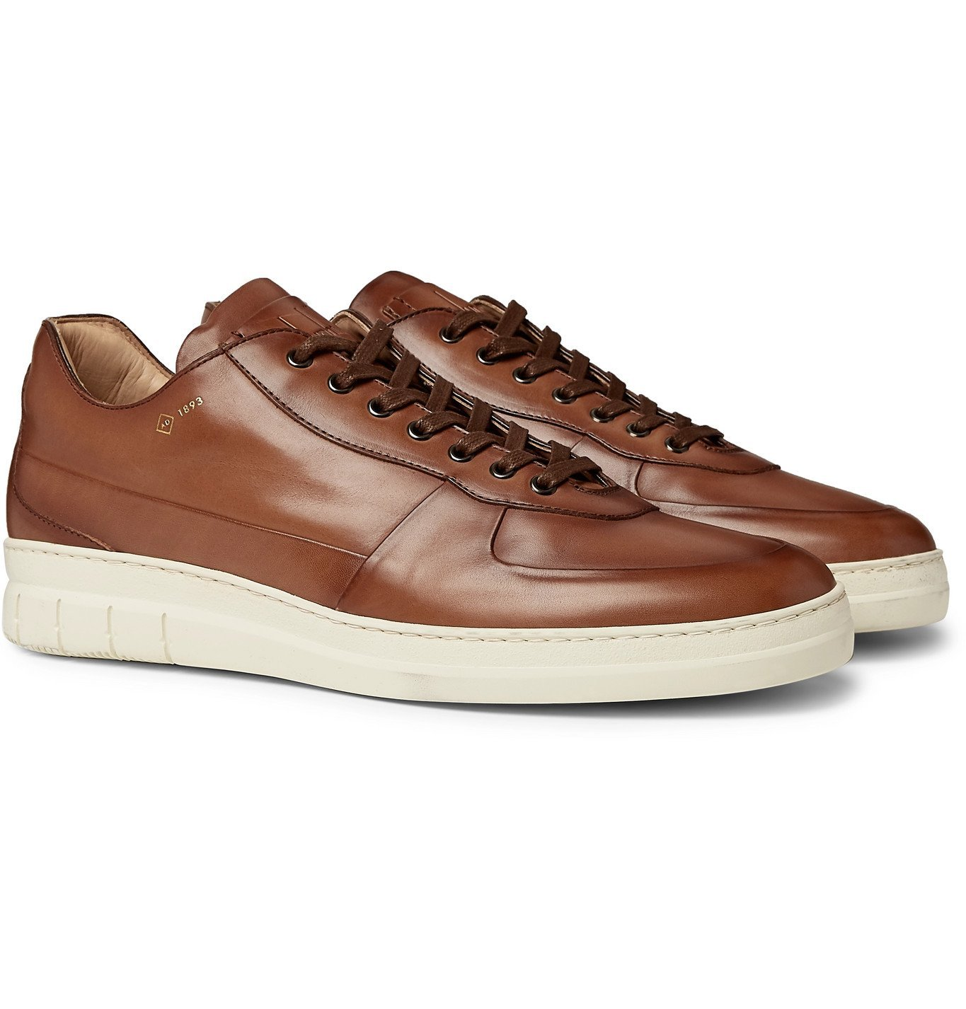 Photo: Dunhill - Duke Leather Sneakers - Brown