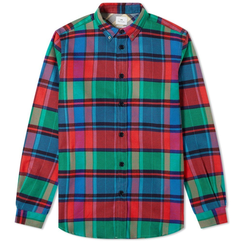 Photo: Paul Smith Button Down Heavy Flannel Check Shirt