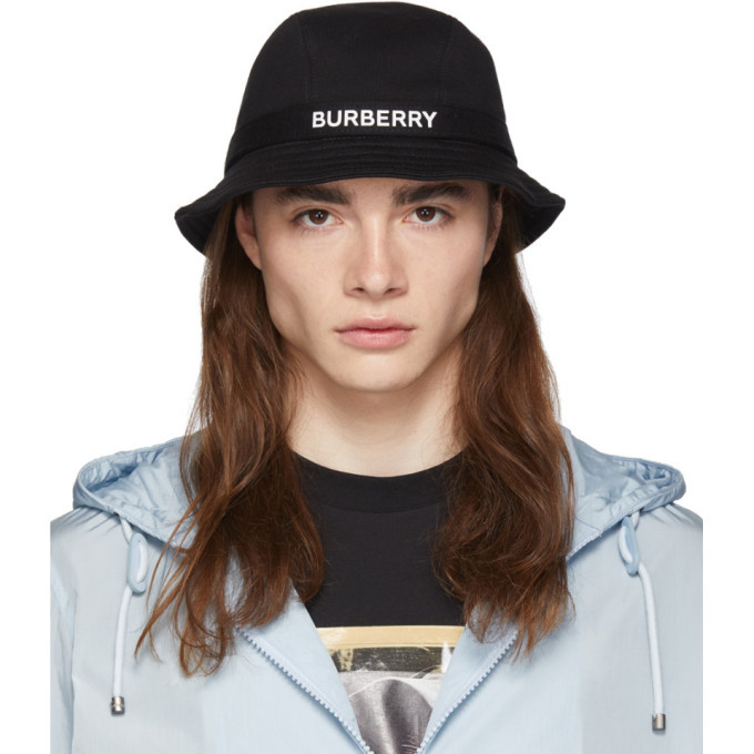 db6a8c3e54a Burberry Black Jersey Bucket Hat Burberry