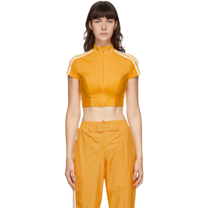 Photo: adidas Originals Yellow Paolina Russo Edition Crop T-Shirt