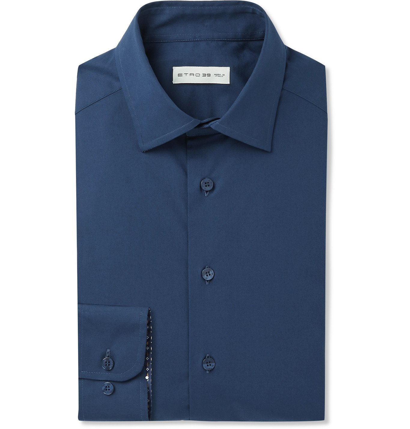 Photo: Etro - Cotton-Poplin Shirt - Blue