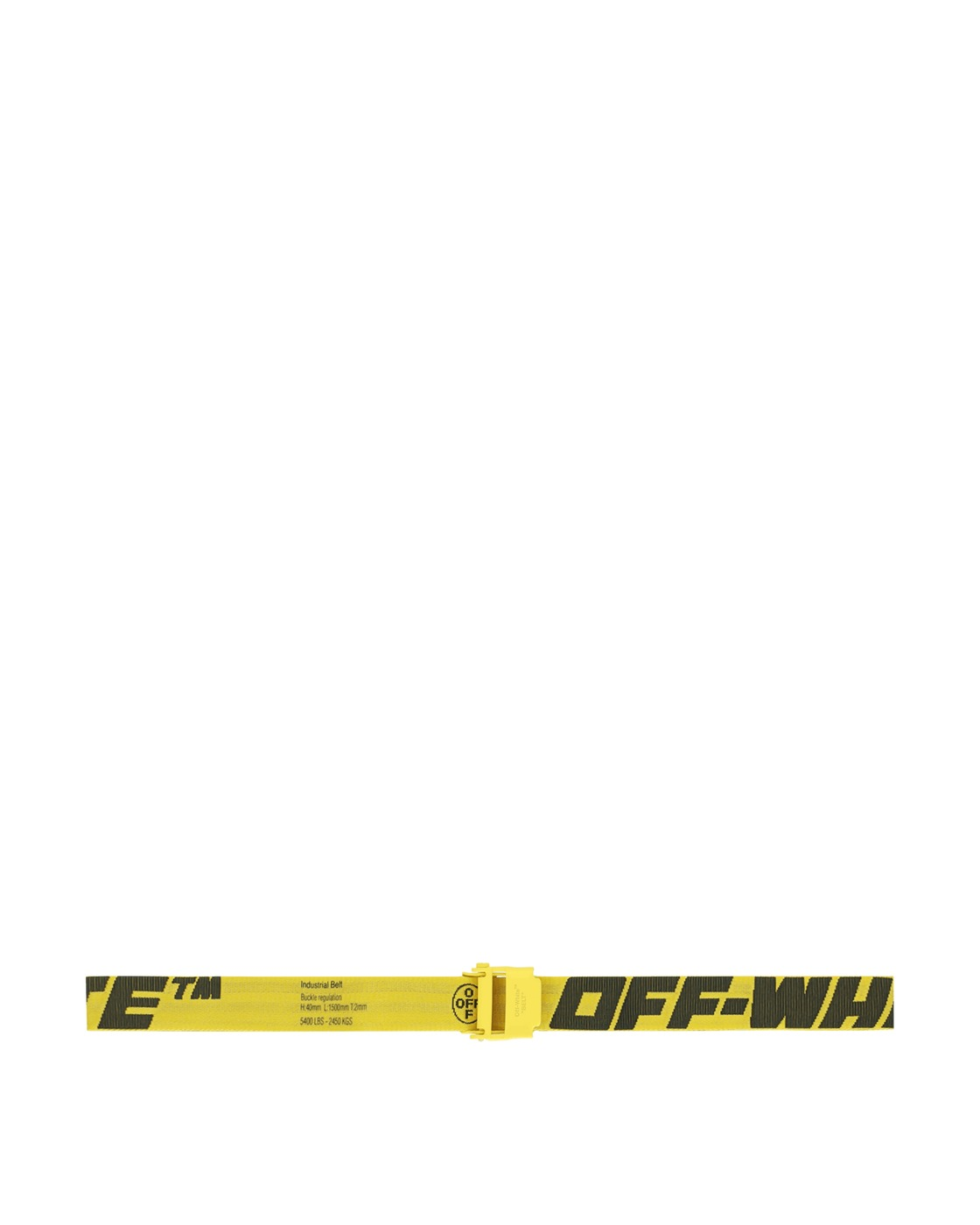 Photo: Off White 2.0 Industrial Belt Yellow/Black