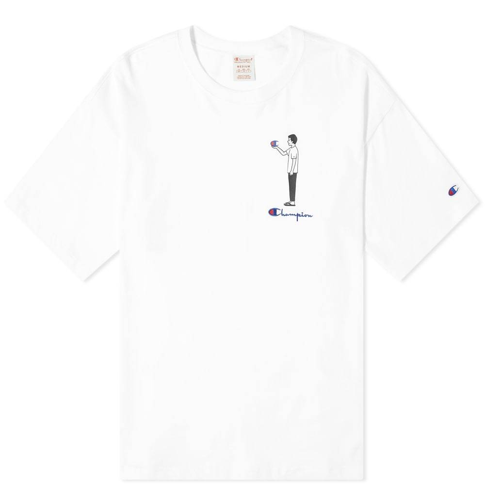 Photo: Champion Reverse Weave Standing Character Tee