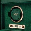 WOLF - British Racing Pebble-Grain Vegan Leather Double Watch Winder - Green