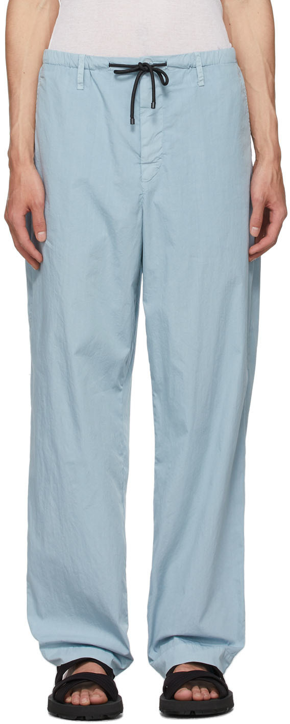 Photo: Dries Van Noten Blue Cotton & Nylon Trousers
