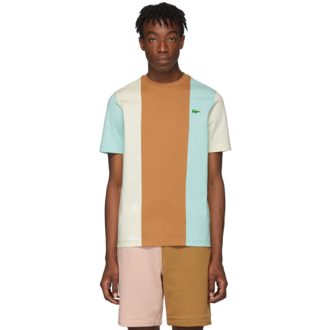 Photo: Lacoste Blue and Brown Golf le Fleur* Edition Colorblocked T-Shirt
