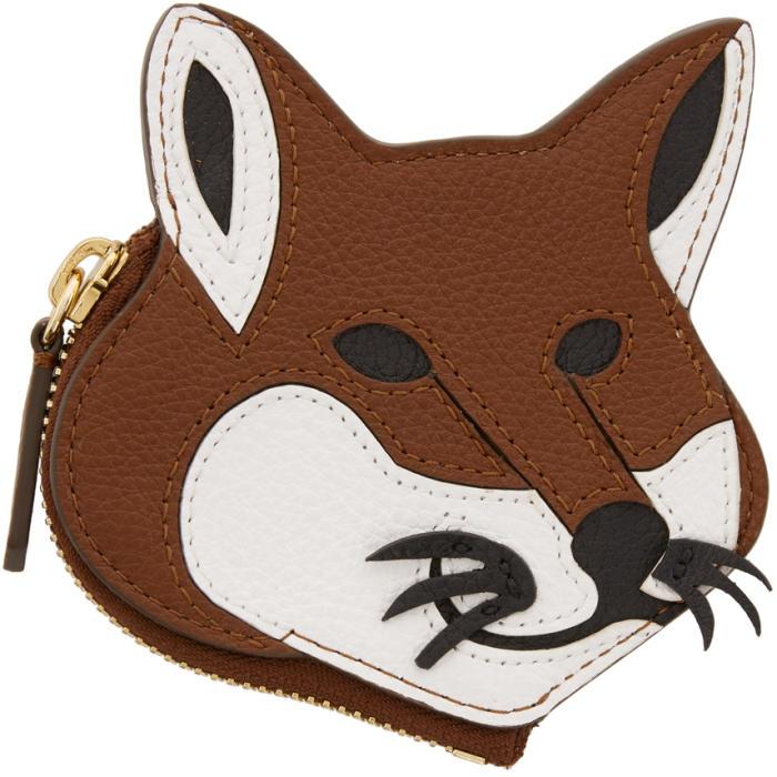Photo: Maison Kitsuné Brown Fox Head Coin Pouch