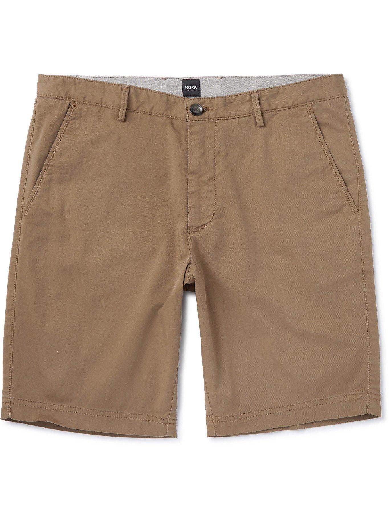 HUGO BOSS - Stretch-Cotton Twill Shorts - Neutrals - UK/US 30
