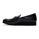 1017 ALYX 9SM Black Croc St. Marks Buckle Loafers