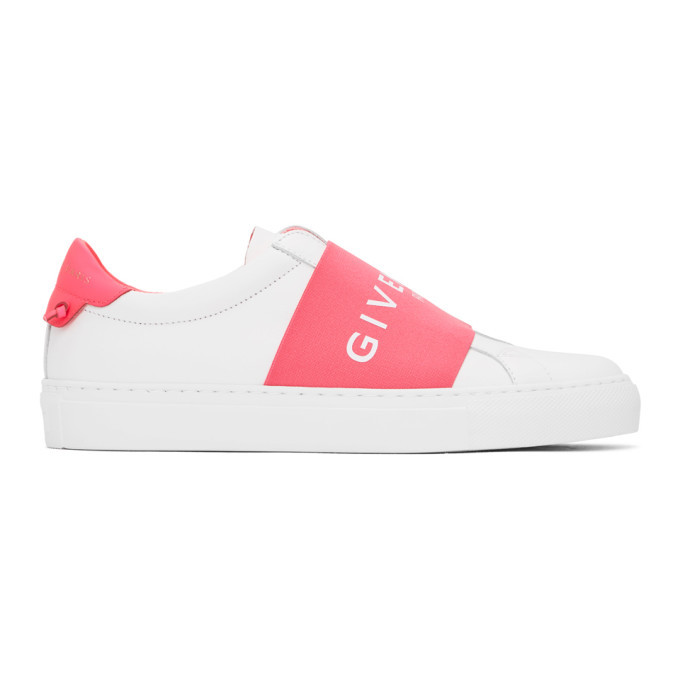 Photo: Givenchy White and Pink Webbing Urban Knots Sneakers