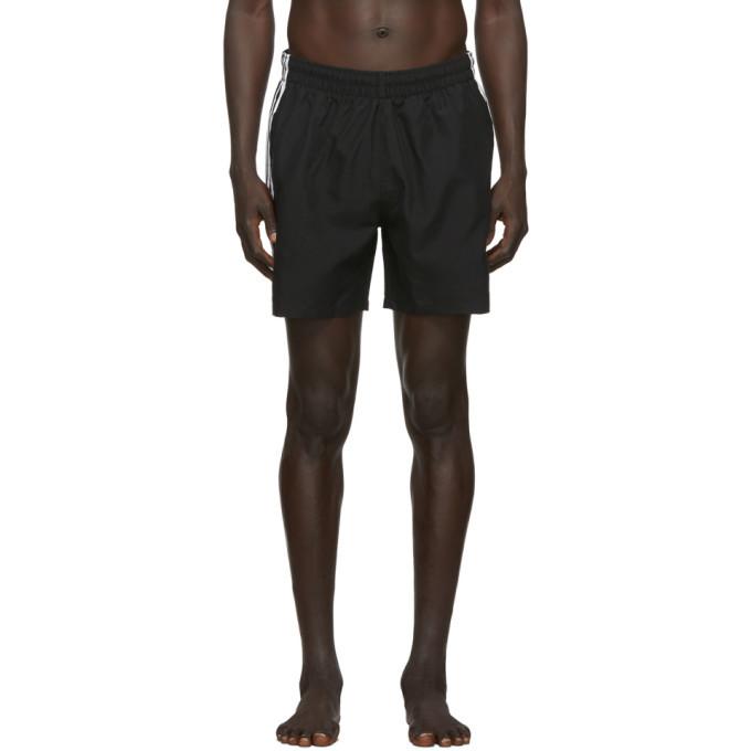 adidas Originals Black 3-Stripes Swim Shorts