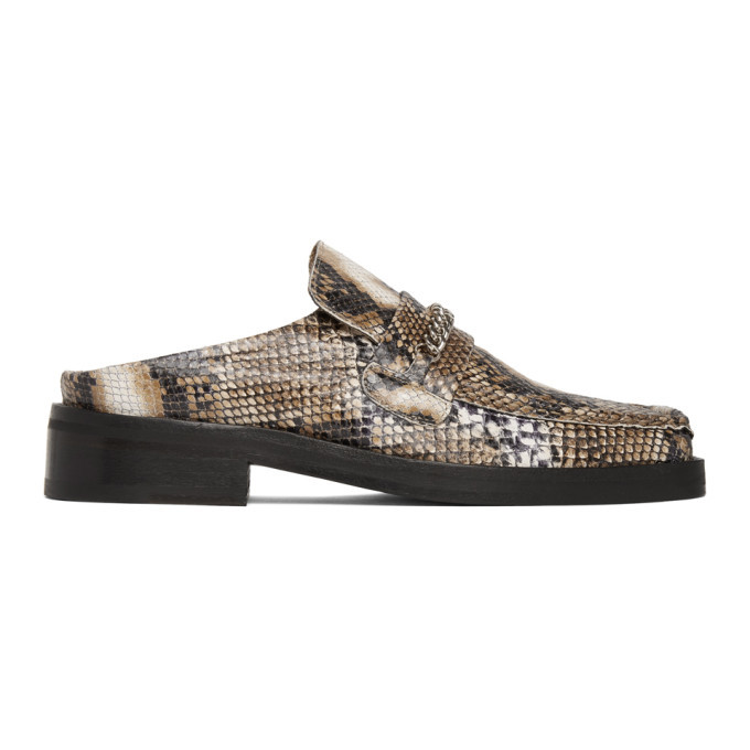 Photo: Martine Rose Brown Snake Slip-On Loafers