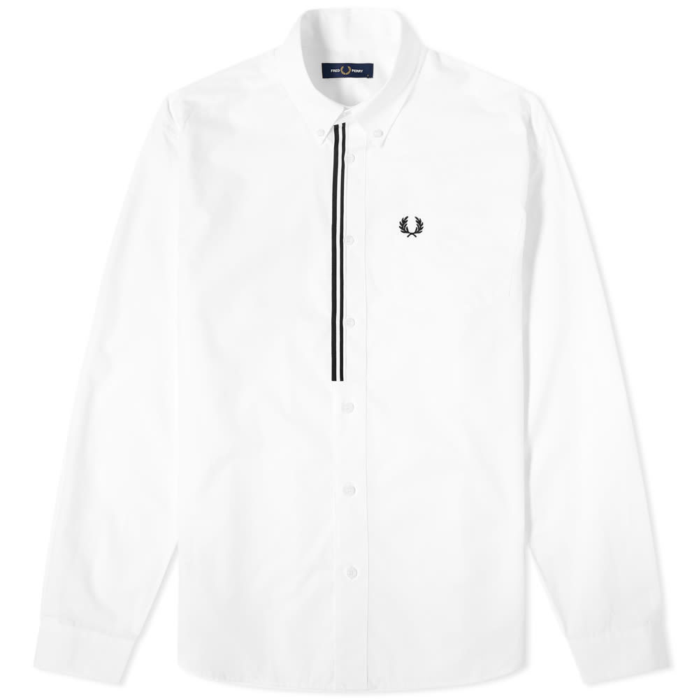 Photo: Fred Perry Authentic Button Down Taped Placket Poplin Shirt