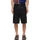 Sacai Black Oxford Shorts