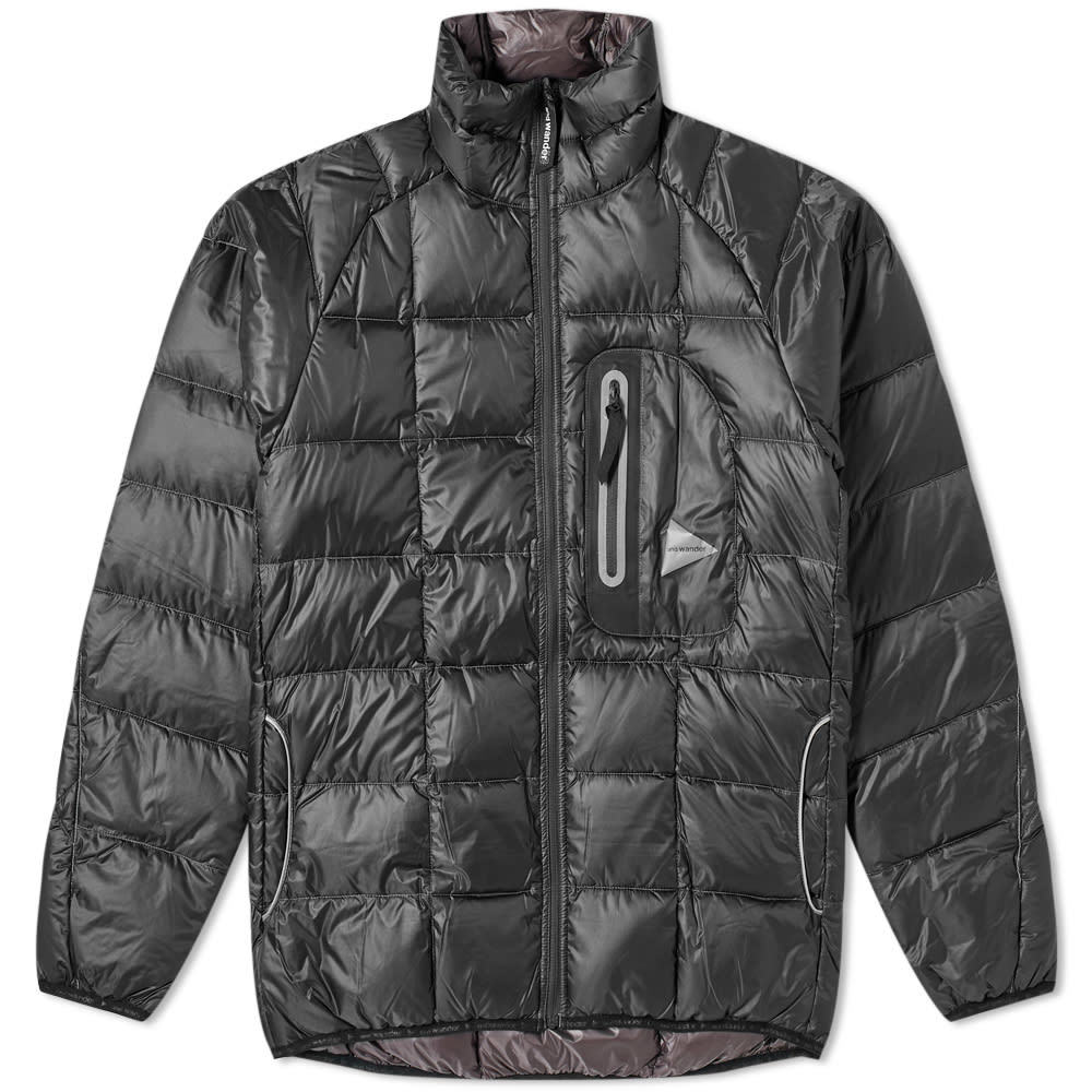 Photo: And Wander Diamond Stitch Stand Collar Down Jacket