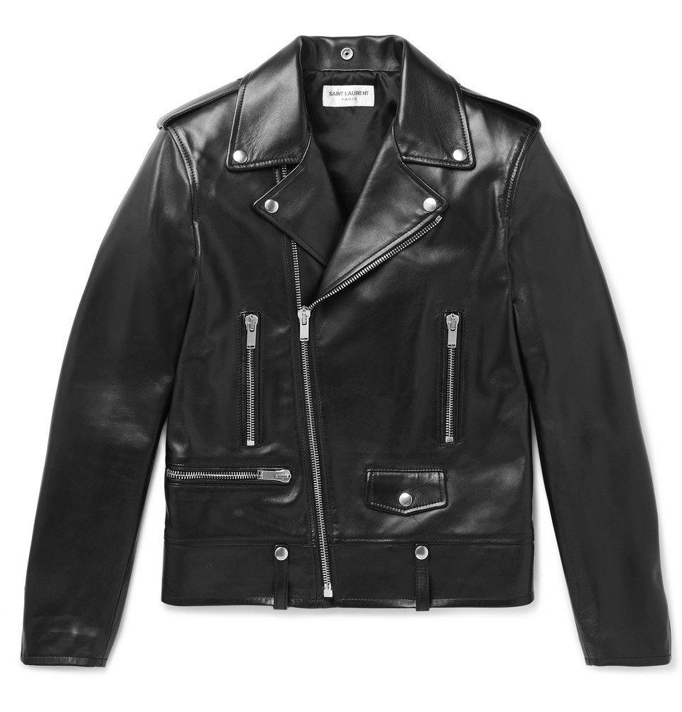 Photo: Saint Laurent - Leather Biker Jacket - Men - Black