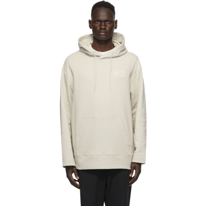 Photo: Y-3 Beige Classic Chest Logo Hoodie