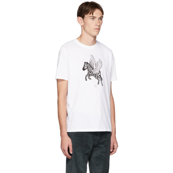 PS by Paul Smith White Pegasus T-Shirt