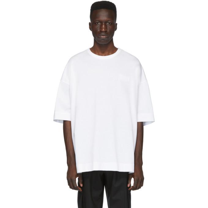 Photo: Juun.J White Logo T-Shirt