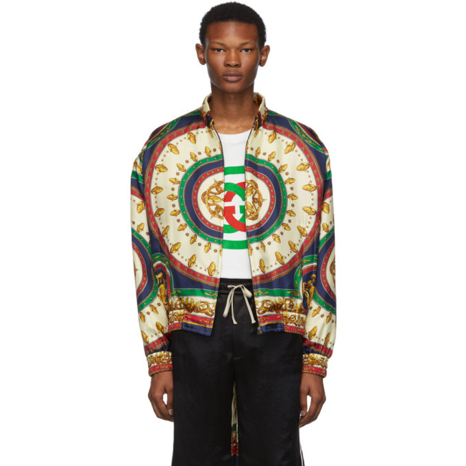 Photo: Gucci Green Silk Mermaid Bomber Jacket