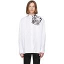 Raf Simons White Cropped Punkette Shirt