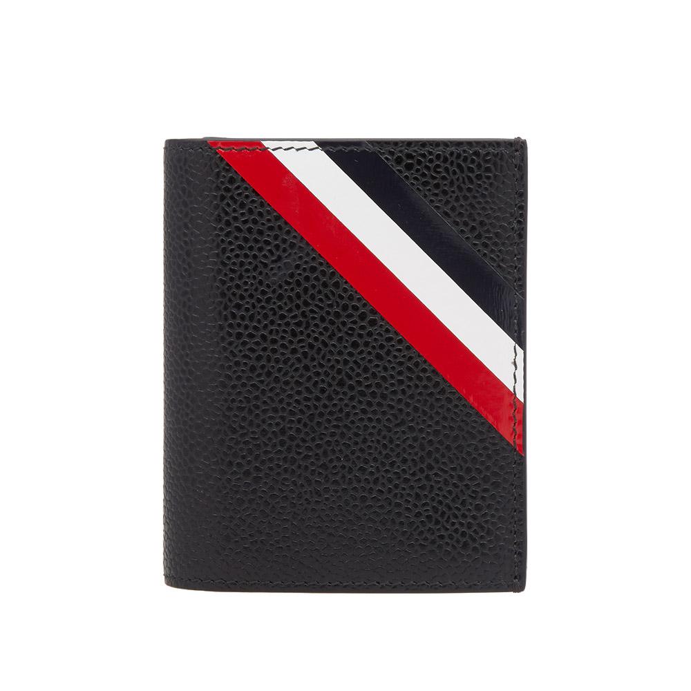 thom browne diagonal stripe double card holder - Thom Browne Card Holder