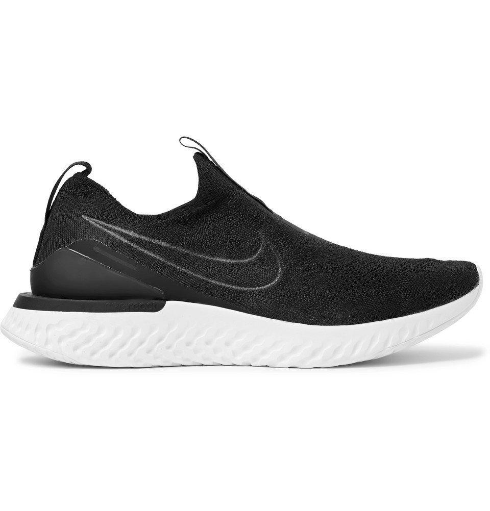 Nike Running - Epic Phantom React Flyknit Slip-On Running Sneakers - Black