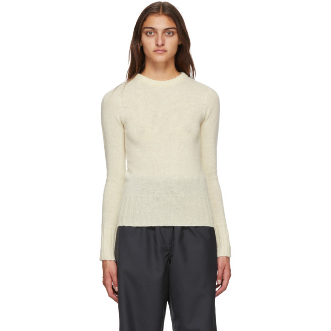 Photo: Lemaire Off-White Wool Fitted Sweater