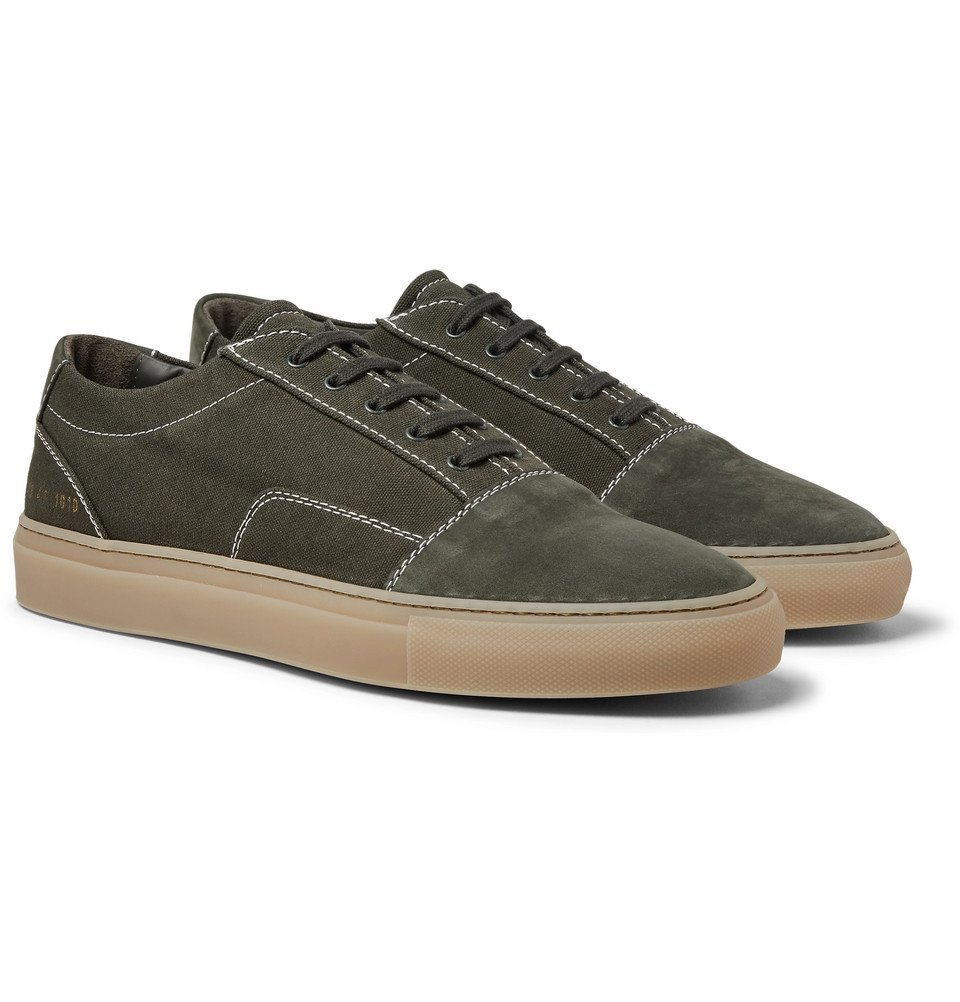Common Projects - Cap-Toe Canvas and Nubuck Sneakers - Men - Green