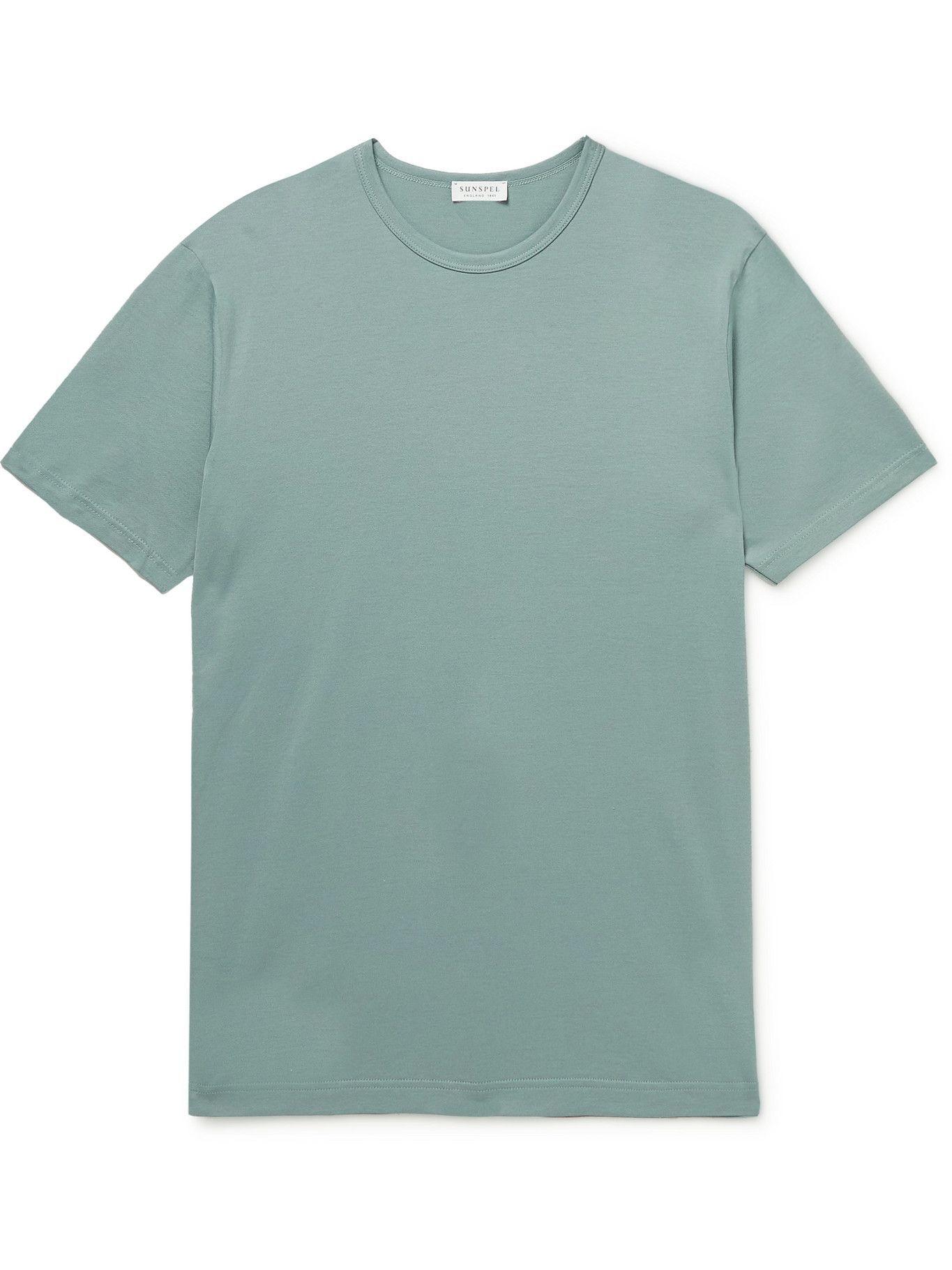 SUNSPEL - Slim-Fit Cotton-Jersey T-Shirt - Green