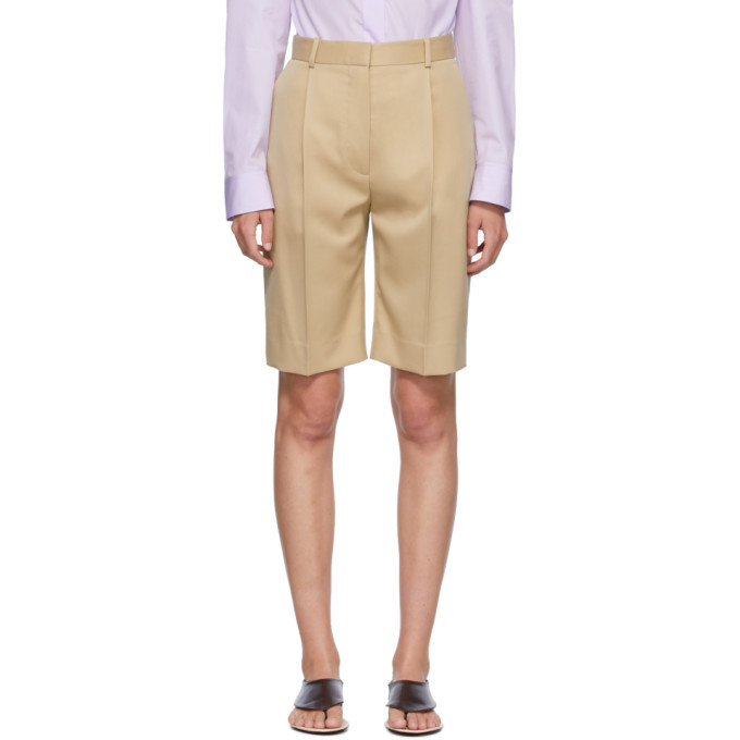 Photo: The Row Beige Marco Shorts