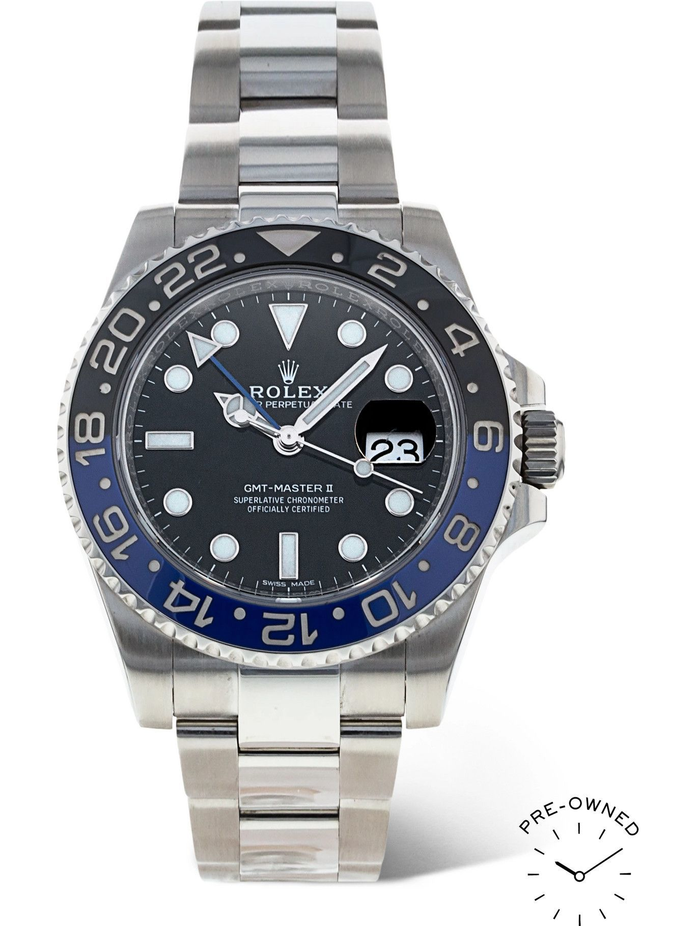 Photo: ROLEX - Pre-Owned 2017 GMT Master II 40mm Automatic Oystersteel Watch, Ref. No. 16710