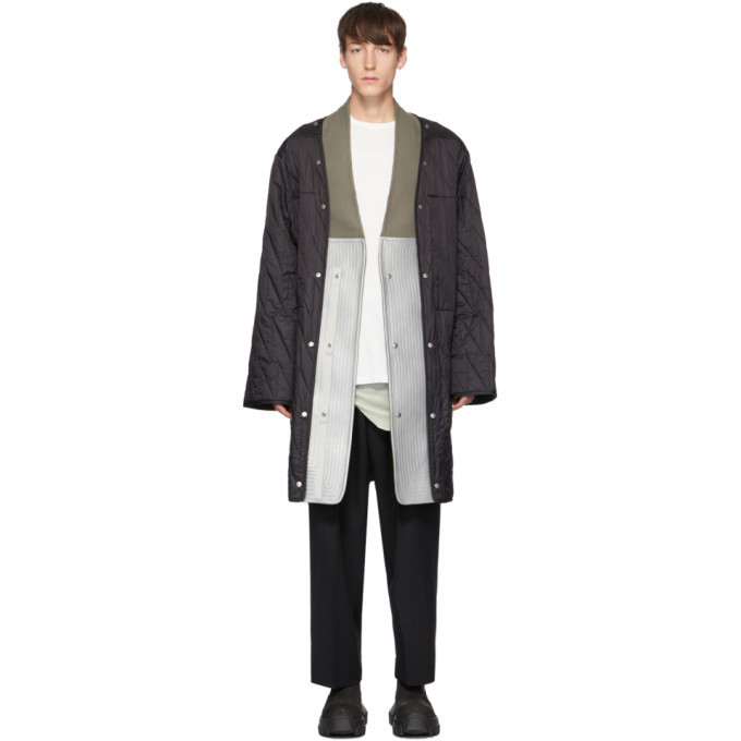 Photo: Rick Owens Black Insert Quilted Parka