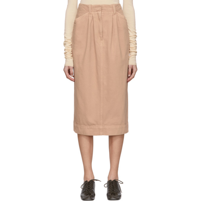 Photo: Lemaire SSENSE Exclusive Pink Denim Baggy Skirt