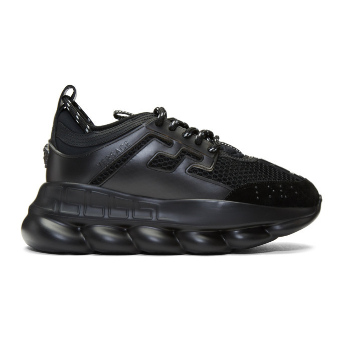 Photo: Versace Black Chain Reaction Sneakers