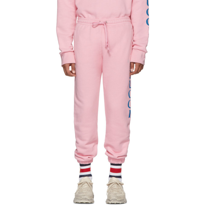 Photo: Gucci Pink Logo Medley Sweatpants