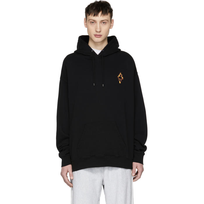Photo: Marcelo Burlon County of Milan Black Fire Cross Hoodie