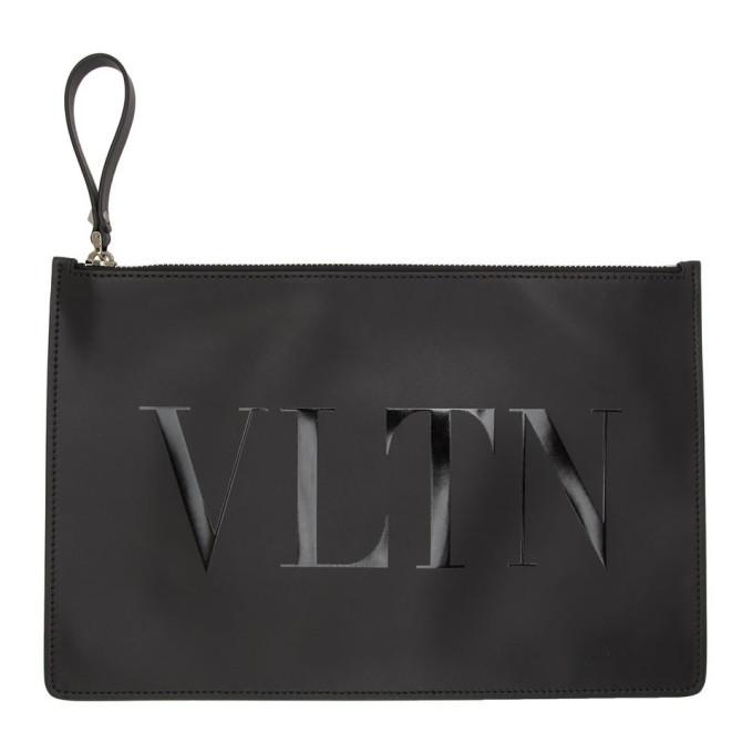 Valentino Black Valentino Garavani VLTN Pouch