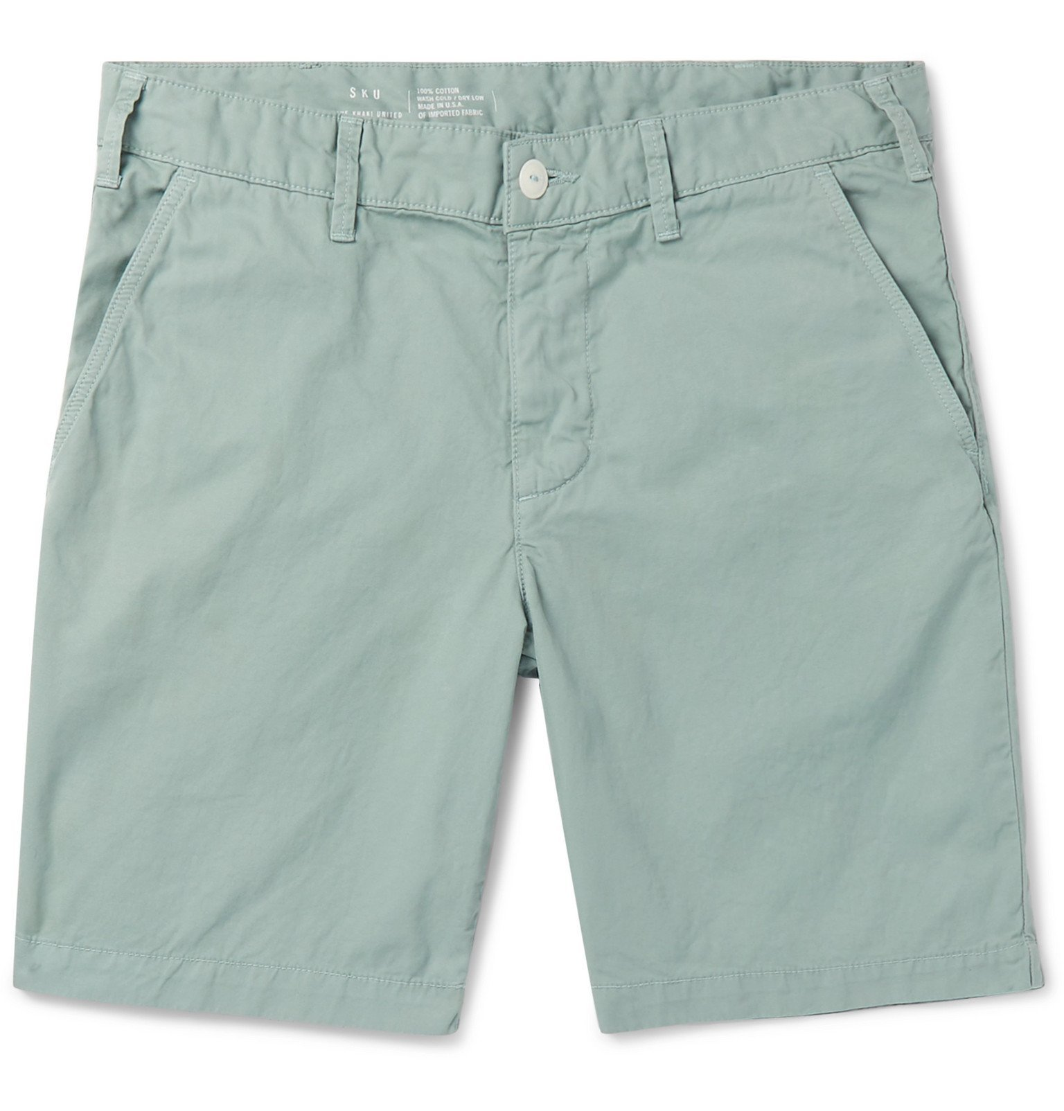 Photo: Save Khaki United - Slim-Fit Cotton-Twill Bermuda Shorts - Blue