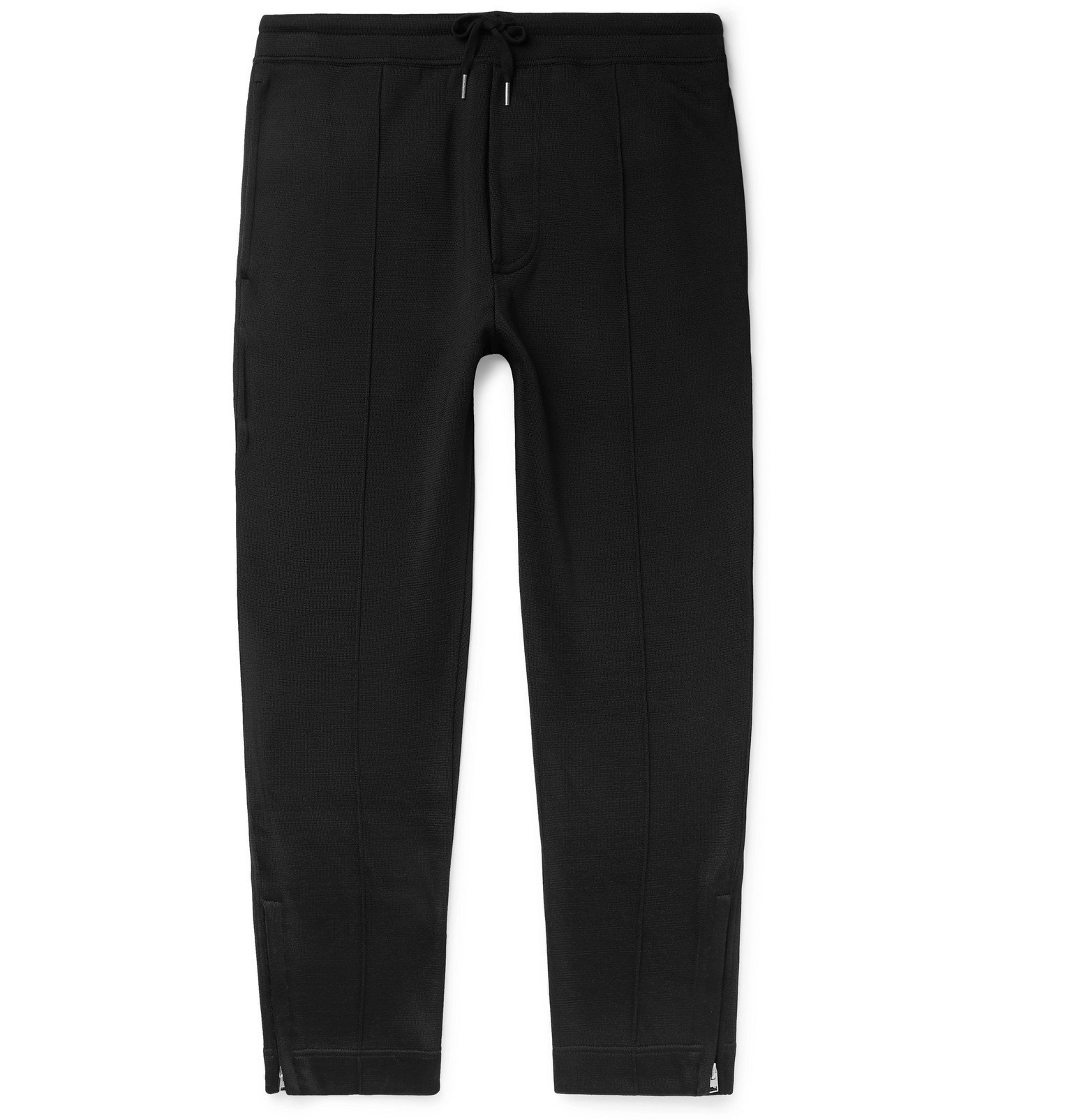 Photo: TOM FORD - Cotton-Blend Jersey Sweatpants - Black