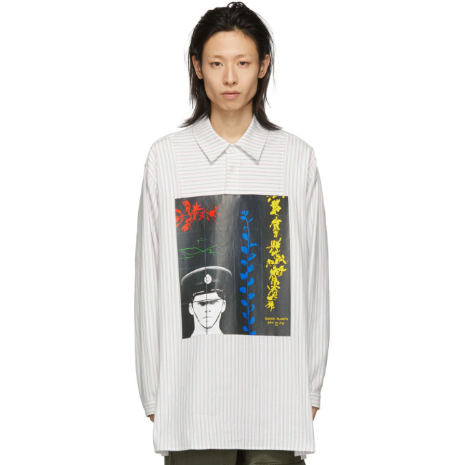 Photo: JW Anderson Off-White Gilbert and George Edition Printed Tunic Shirt