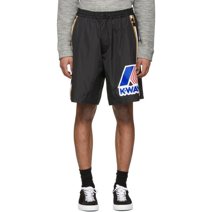 Photo: Dsquared2 Black K-Way Edition Boxer Shorts